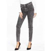Levi's 721 High Rise Skinny Jean, Bass Line, Size 26, Inside Leg 34, Women