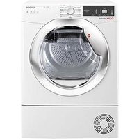 Hoover Dynamic Next Dxh9A2Tce 9Kg Load, Aquavision, Heat Pump Tumble Dryer With One Touch - White/Chrome