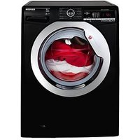 Hoover Dynamic Next Dxoa48C3B 8Kg Load, 1400 Spin Washing Machine With One Touch - Black/Chrome