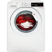 Hoover Dynamic Next Dxoa68Lw3 8Kg Load, 1600 Spin Washing Machine With One Touch - White