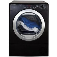 Candy Grand'O Vita Gvs C9Dcgb 9Kg Load Condenser Tumble Dryer With Smart Touch - Black/Chrome