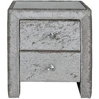 Product photograph showing Crushed Velvet Bedside Table