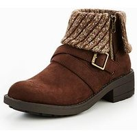 Rocket Dog Toby Cuff Ankle Boot, Brown, Size 4, Women