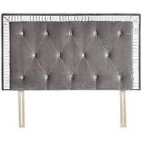 Michelle Keegan Home Mirage Fabric Mirrored Headboard
