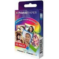 Polaroid Rainbow Border 2X3 Premium Zink Paper 20 Pack