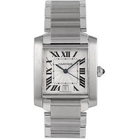 Cartier Cartier Pre-Owned Gents Steel Tank Francaise Automatic Watch. Off-White Dial. Ref 2302, One Colour, Men