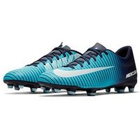 Nike Mercurial Vortex III Firm Ground Football Boots, Blue, Size 8, Men