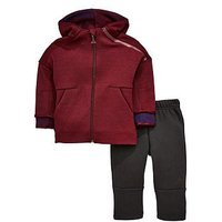adidas Baby Boy Zne Jog Set, Burgundy, Size 3-6 Months