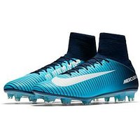 Nike Mercurial Veloce III Dynamic Fit Firm Ground Football Boots, Blue, Size 7, Men