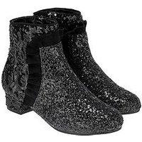Monsoon Sequin Boot, Black, Size 4 Older