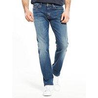 Tommy Jeans Slim Scanton Jean, Mid Wash, Size 32, Length Short, Men