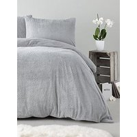 Product photograph showing Silentnight Super Soft Teddy Fleece Duvet Cover Set