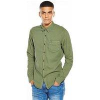 Tommy Jeans Long Sleeve Shirt, Green, Size 2Xl, Men