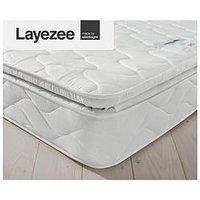 Product photograph showing Layezee Fenner Bonnel Spring Pillowtop Mattress