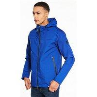 V by Very Funnel Neck Tech Jacket, Bright Blue, Size 3Xl, Men