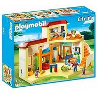 Playmobil Playmobil 5567 City Life Sunshine Preschool With Functional Blackboard And Clock Hands