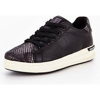 Geox Aveup Girls Trainer Shoe, Black, Size 6 Older