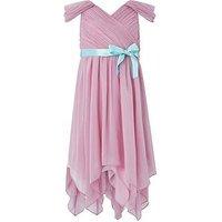 Monsoon Laurentia Beaded Dress, Pink, Size 3 Years, Women