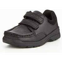 Clarks Obie Play Infant Shoe, Black, Size 8 Younger