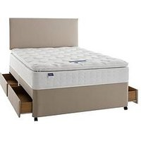 Product photograph showing Silentnight Miracoil 3 Pippa Memory Foam Pillowtop Divan Bed With Storage Options