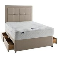 Product photograph showing Silentnight Miracoil 3 Tuscany Geltex Comfort Divan Bed With Storage Options