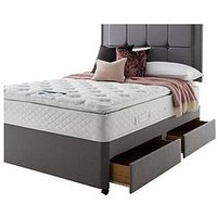 Silentnight Miracoil 3 Tuscany Geltex Pillowtop Divan Bed With Storage Options