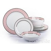 Waterside Pink Star 12Pc Dinner Set