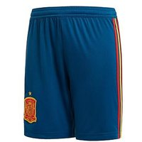 Boys, adidas Junior Spain Home Replica Shorts - Blue, Red, Size 13-14 Years