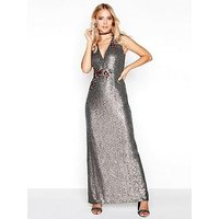 Little Mistress Sequin Maxi Dress
