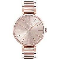BOSS Hugo Boss allusion rose gold dial rose gold bracelet ladies watch, One Colour, Women