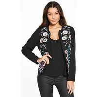 V by Very Floral Embellished Jacket, Floral Print, Size 8, Women