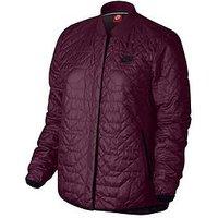 Nike Sportswear Quilted Jacket - Burgundy , Burgundy, Size M, Women