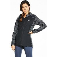 Nike Running Essential Flash Hooded Jacket - Black , Black, Size Xs, Women