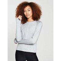 Nike Running Dry Element Long Sleeve Top, Grey, Size L, Women