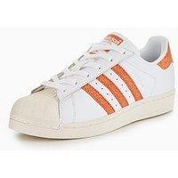 adidas Originals Superstar - White/Coral , White/Coral, Size 4, Women