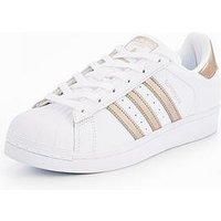 adidas Originals Superstar - White/Gold , White/Gold, Size 9, Women
