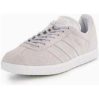 adidas Originals Gazelle Stitch & Turn - Grey , Grey, Size 5, Women