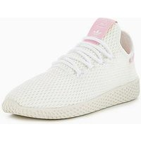 adidas Originals Pharrell Williams Tennis HU - White/Pink , White/Pink, Size 5, Women