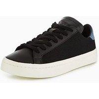 adidas Originals Court Vantage - Black , Black, Size 5, Women