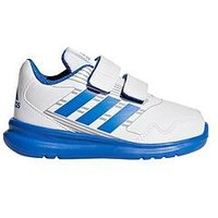 adidas AltaRun CF Infant Trainer, White/Blue, Size 9