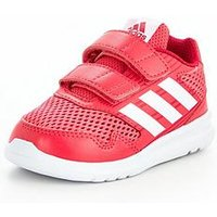 adidas AltaRun CF Infant Trainer, Pink/White, Size 4
