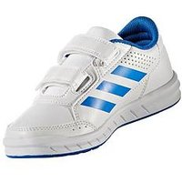 adidas AltaSport CF Childrens Trainer, White/Blue, Size 4