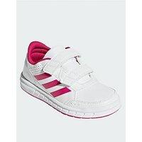 adidas AltaSport CF Childrens Trainer, White/Pink, Size 2