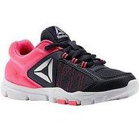 Reebok Reebok Yourflex Train 9.0 Childrens Trainer, Black/Pink, Size 5