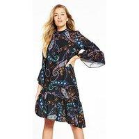 V by Very Asymmetric Tunic Dress, Print, Size 14, Women