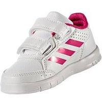 adidas Adidas AltaSport CF Infant Trainer, White/Pink, Size 7