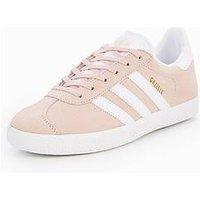 adidas Originals Gazelle Junior Trainer, Pink, Size 5
