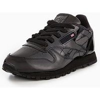 Reebok Reebok Classic Leather Patent Childrens Trainer, Black, Size 10
