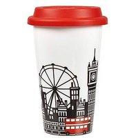 Portmeirion Travel Mug With Silicone Lid - London (Single Mug)