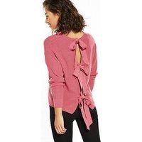 RI Petite Petite Bow Back Jumper - Blush Pink, Blush Pink, Size 10, Women